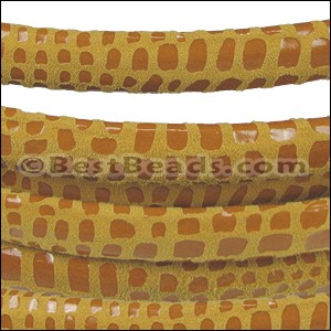 MINI Regaliz® Leather Oval CANCUN MUSTARD - per 10m SPOOL