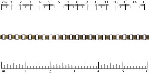 5.6mm box chain ANT. BRASS - per 25ft spool