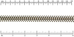 Medium Fishbone chain ANT. BRASS - per 25ft spool