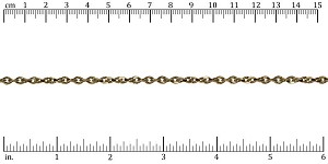 Twisted Curb chain ANT. BRASS - per 50ft spool