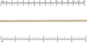 small flattened curb chain MATTE GOLD - per 50ft spool