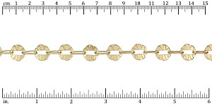 button hole chain MATTE GOLD - per 50ft SPOOL