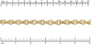 Byzantine with circle link chain MATTE GOLD - per 25ft spool