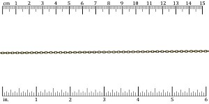 Tiny Rectangle chain ANT. BRASS - per 50ft spool