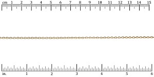 Tiny Rectangle chain GOLD - per 50ft spool