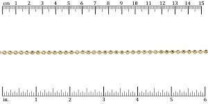 3mm Faceted Ball chain GOLD - per 25ft spool