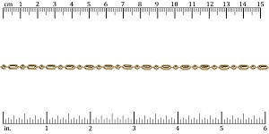3mm Ball Bar chain GOLD - per 50ft spool