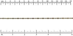 2mm Lined Ball Bar chain ANT. BRASS - per 50ft spool