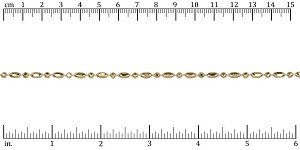 3mm Ball Rice chain GOLD - per 25ft spool