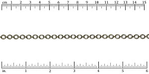 Crinkle Link chain ANTIQUE BRASS - per 25ft spool
