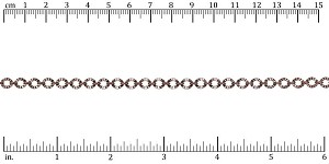 Crinkle Link chain ANTIQUE COPPER - per 25ft spool
