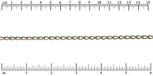 Large Elegant Curb chain ANTIQUE BRASS - per 50ft spool