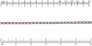 Large Elegant Curb chain ANTIQUE COPPER - per 50ft spool