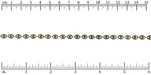 Pig Nose chain ANT. BRASS- per 25ft spool