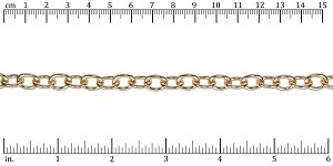 medium heavy cable chain GOLD - per 10ft spool