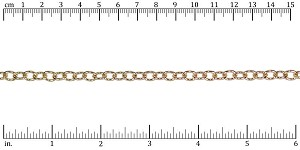 small heavy cable chain GOLD - per 50ft spool
