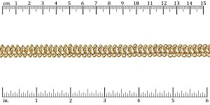 triple chainmail chain GOLD - per 10ft spool