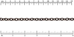 Etched small heavy cable chain ANT. COPPER - per 50ft spool
