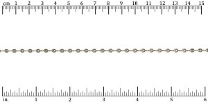 Teardrop Twists chain ANT. SILVER - per 25ft spool