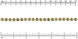 sequin chain ANTIQUE BRASS- per 25ft spool