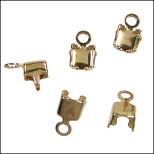 3mm crystal chain connector GOLD - per 10 pieces