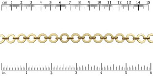 washer chain MATTE GOLD - per 50ft spool