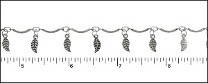 bar leaf chain ANT. SILVER - per 25ft spool