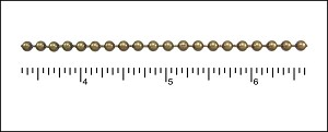 3.2mm ball chain ANT. BRASS - per 50ft spool