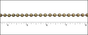 4.5mm ball chain ANT. BRASS - per 50ft spool