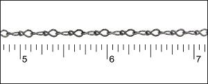 fine teardrop chain GUNMETAL - per 50ft spool