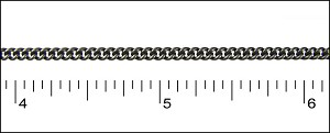 fine curb chain MATTE GUNMETAL - per 50ft spool