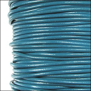 1.9mm round Greek leather dyed SKY BLUE - per 50m SPOOL