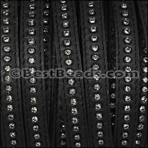 10mm flat CRYSTAL CORK BLACK - per 10m SPOOL