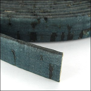 5mm flat CORK DARK TEAL - per 5 meters