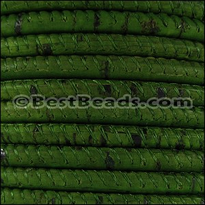 5mm round CORK GRASS GREEN - per 10m SPOOL