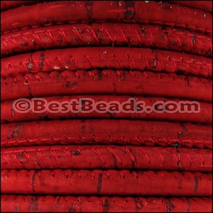 5mm round CORK RED - per 10m SPOOL