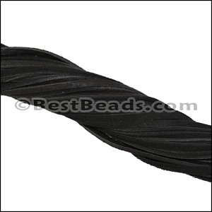 3mm Flat DEERSKIN lace RICH ESPRESSO- per 10 strands