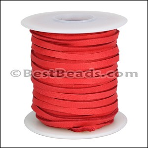 1/8 inch Deerskin Lace RED - per 50ft SPOOL