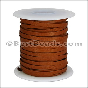 1/8 inch Deerskin Lace SADDLE BROWN - per 50ft SPOOL