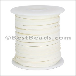1/8 inch Deerskin Lace WHITE - per 50ft SPOOL