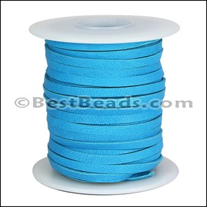 3/16 inch Deerskin Lace TURQUOISE - per 50ft SPOOL