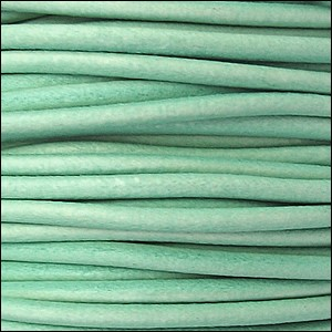 2mm round Euro leather DISTRESSED TEAL - per 25m SPOOL