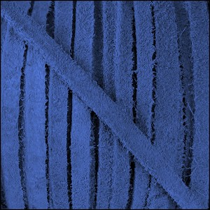 4mm Flat SUEDE lace BLUE - per 20m SPOOL