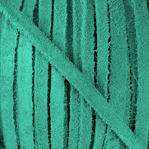4mm Flat SUEDE lace TURQUOISE - per 20m SPOOL
