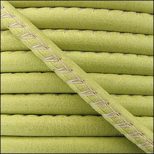 5mm round ARIZONA stitched leather KEY LIME GREEN - per 10 feet
