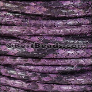 5mm Round Python leather per 10m SPOOL - Purple