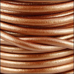 5mm round Euro leather METALLIC BRONZE - per 20m SPOOL
