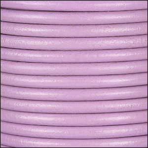 4mm round Euro leather PASTEL MAUVE - per 10 feet