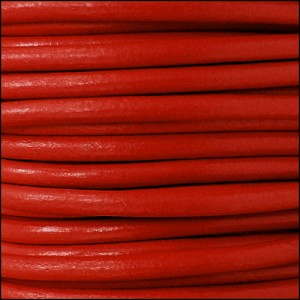 4.5mm round Euro leather CORAL - per 10 feet