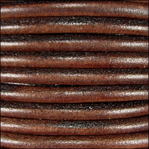 4.5mm round Euro leather DISTRESSED BROWN - per 20m SPOOL